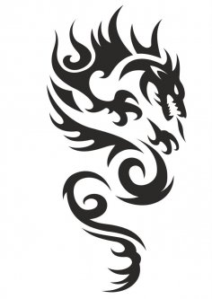 Celtic Phoenix Tattoo Dragon Vector CDR File
