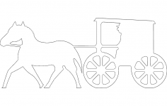 Horse Buggy Silhouette dxf File
