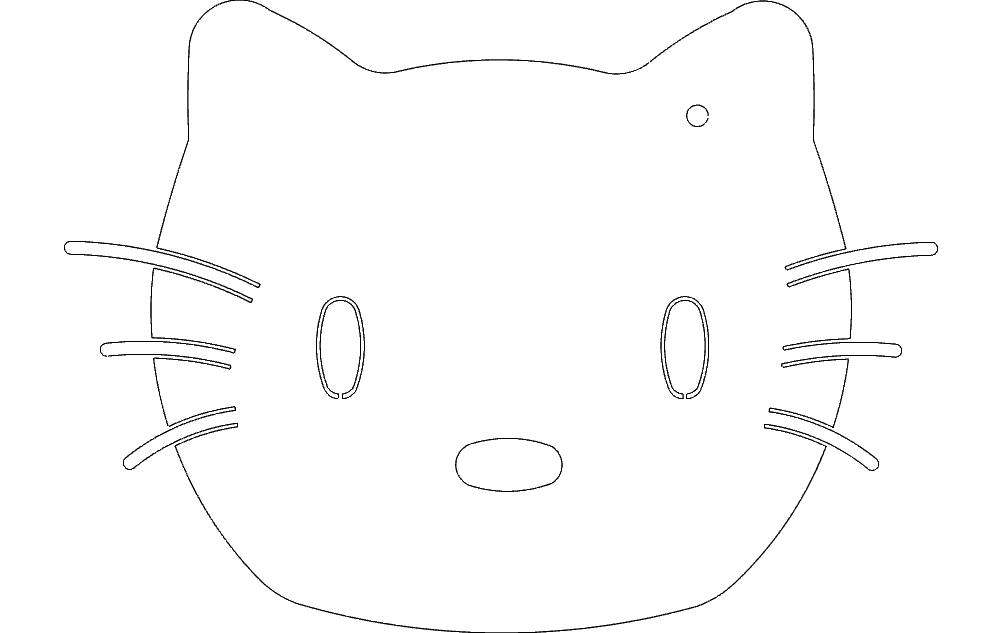 hello kitty dxf File