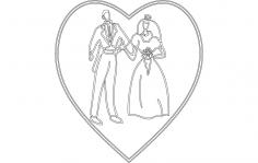 Bride Groom dxf File