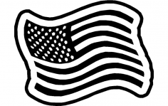 Americanflag 1 dxf File