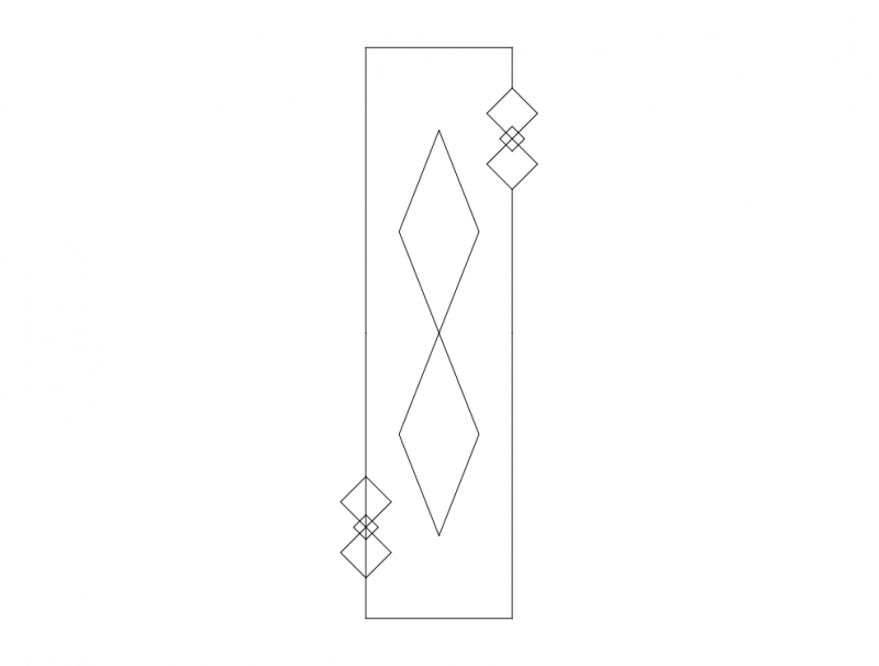 Mdf Door Design 18 dxf File