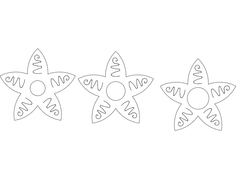 Stars cruvy dxf File