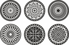 Circle Lasercut Element Free Vector