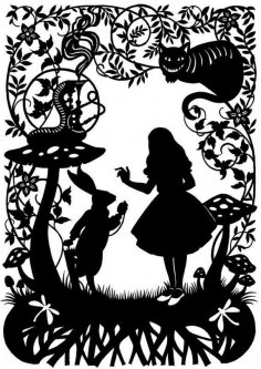 Alice In Wonderland DXF File