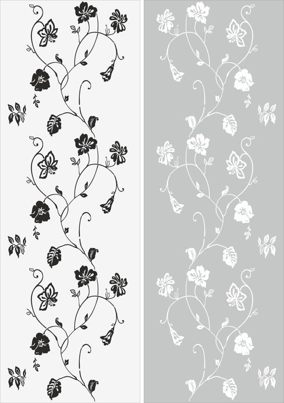 Leaf Vine Plant Sandblast Pattern Free Vector