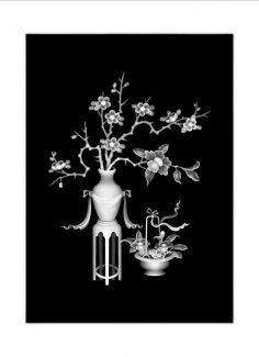 3D Grayscale Image Vase BMP File