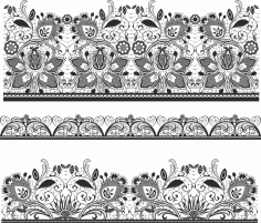 Lace Material Vector Free Vector