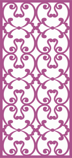 Laser Cut Vector Panel Seamless 286 Free Vector