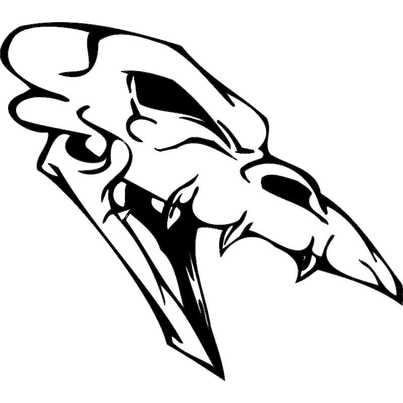 Skull 008 dxf File