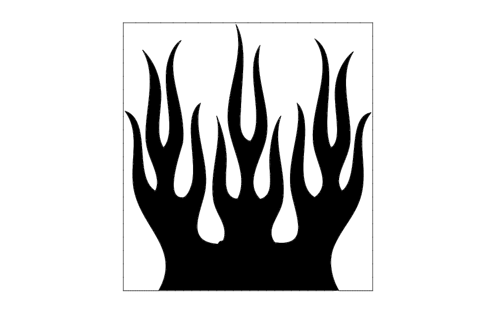 Flames dxf File