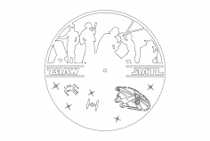 Clock On A Record – Star Wars dxf File