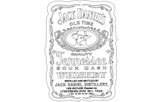 Jack Daniel's Tennessee Whiskey 2 dxf File
