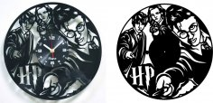 HARRY POTTER Vinyl Record Clock DXF File