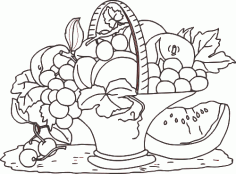 карзина с фруктами DXF File