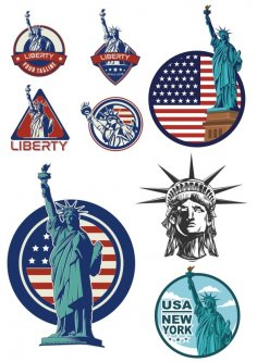 Usa Liberty Statue Logo Vector CDR File
