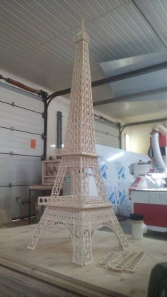 Vector For Laser Cut Of Eiffel Tower CDR File