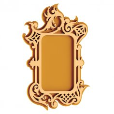 Plywood Mirror Frame DXF File