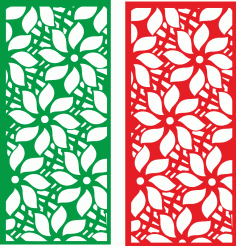 Flower partition screen Free Vector