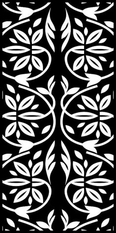 Trees Floral Laser Cut Privacy Screens Pattern Free Vector