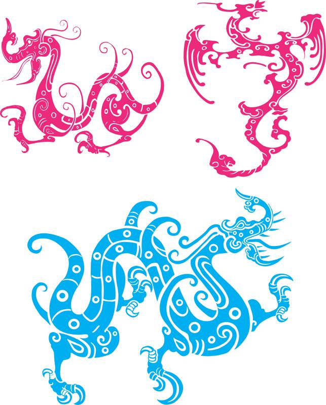 Dragon Totem Vector Free Vector