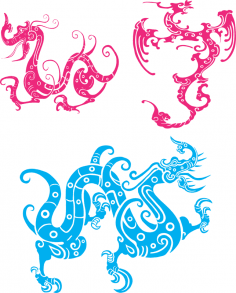 Dragon Totem Vector CDR File