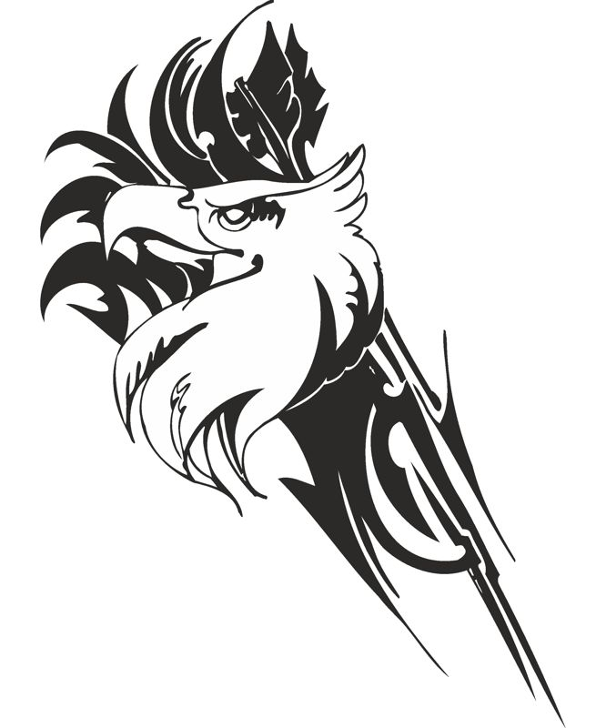 Eagle predatory bird Sticker Free Vector