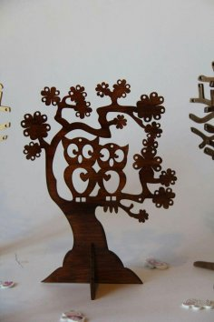 Tree with Birds CNC Router Plan CDR File