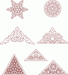 Moroccan Pattern Eastern Traditional Style DXF File