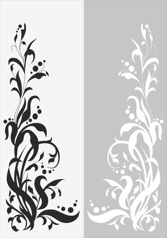 Seamless Floral Pattern Sandblast Pattern Free Vector
