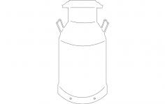 Milkcan dxf File