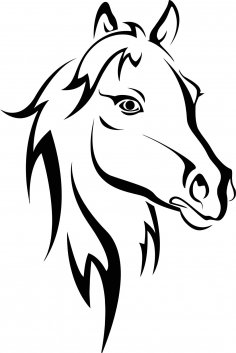 Horse Stencil Free Vector