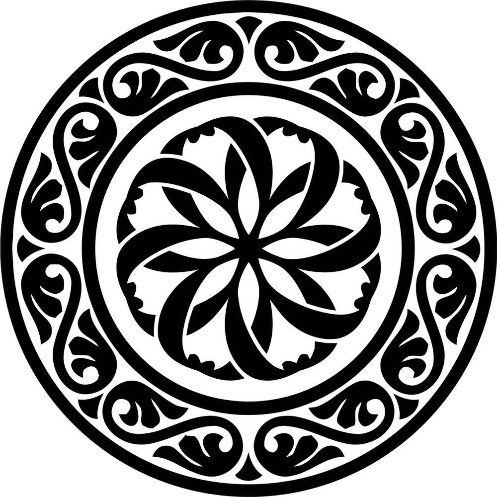 Design Round Stencil motif Free Vector