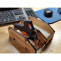 Hot Glue Gun Holder dxf File