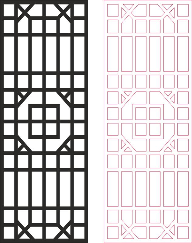 Outdoor Privacy Screen Panels Fence Divider Pattern dxf File