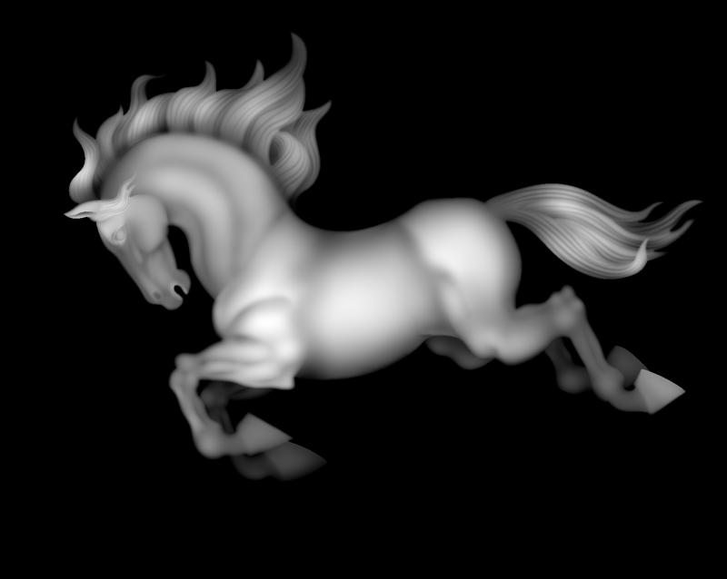 Horse grayscale image BMP File