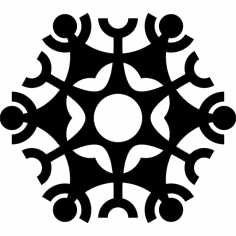 Snowflake design dxf file