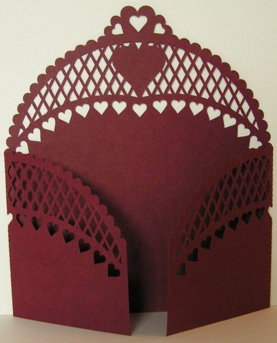 Gate Fold Card 16 dxf File