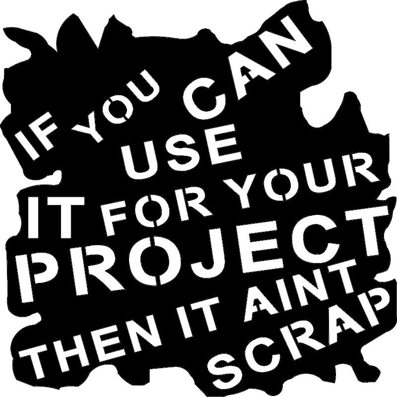 Scrap Sign 18×18 dxf File