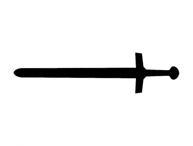 Medieval Sword dxf File
