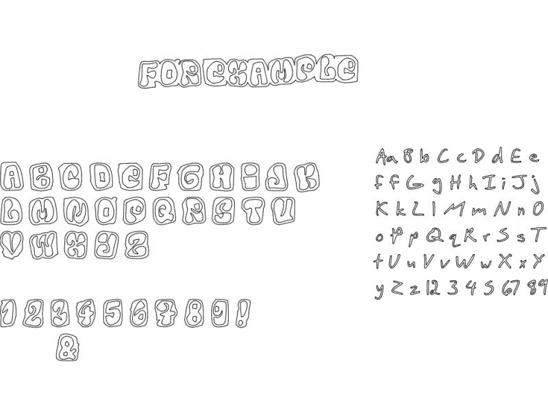 Letters Font dxf File