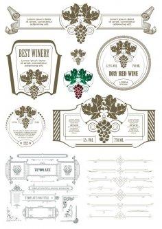 Vintage Calligraphic Design Elements Free Vector
