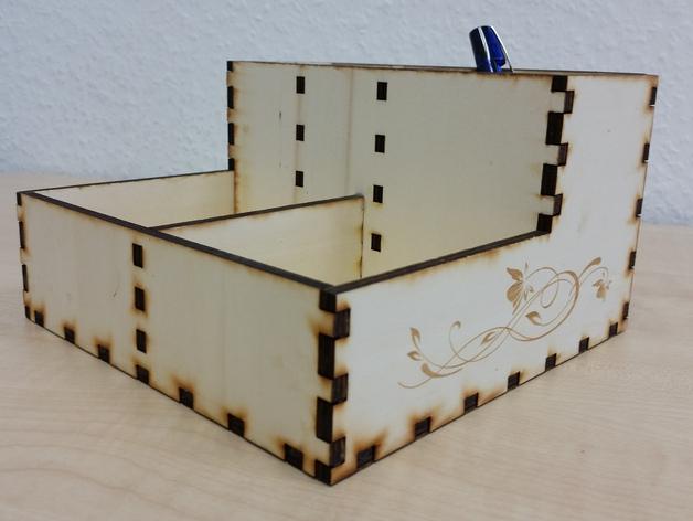 Writing utensils organizer box Laser Cut SVG File