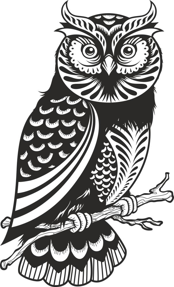 Owl Decor Silhouette Free Vector