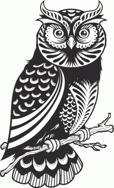 Owl Decor Silhouette Free Vector
