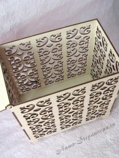 Laser Cutting Wedding Box Free Vector