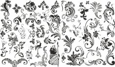 Swirls Set Free Vector