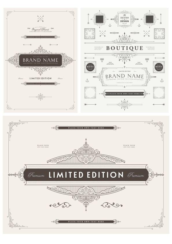 Elegant Decorative Elements Free Vector