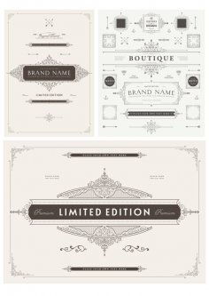 Elegant Decorative Elements Free Vector