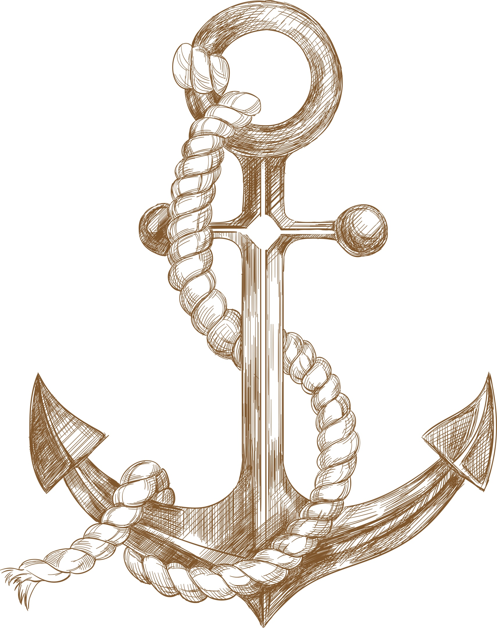 Anchor Sketch Vector Free Vector